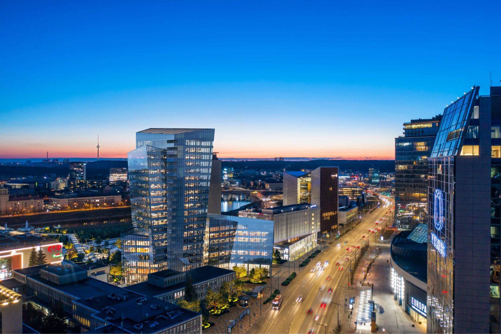 Nauja Vilniaus arterija: D. Libeskindo suprojektuotas verslo centras sieks suburti verslo lyderius