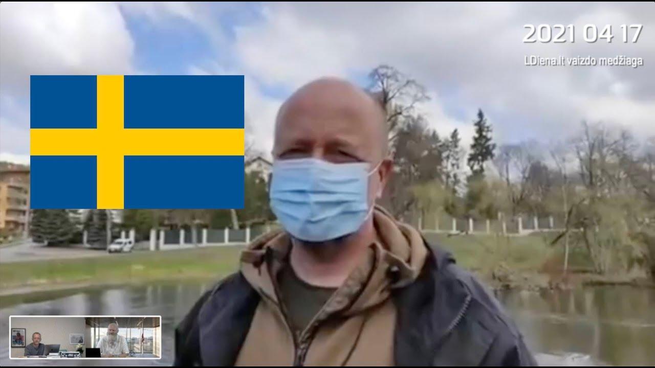Rusų siaubo Jono Ohmano interviu priešais Rusijos ambasadą