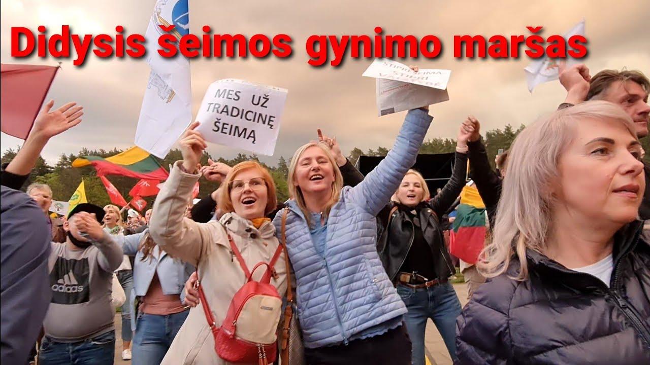 Didysis šeimos gynimo maršas 2021. Vingio parkas Vilnius.