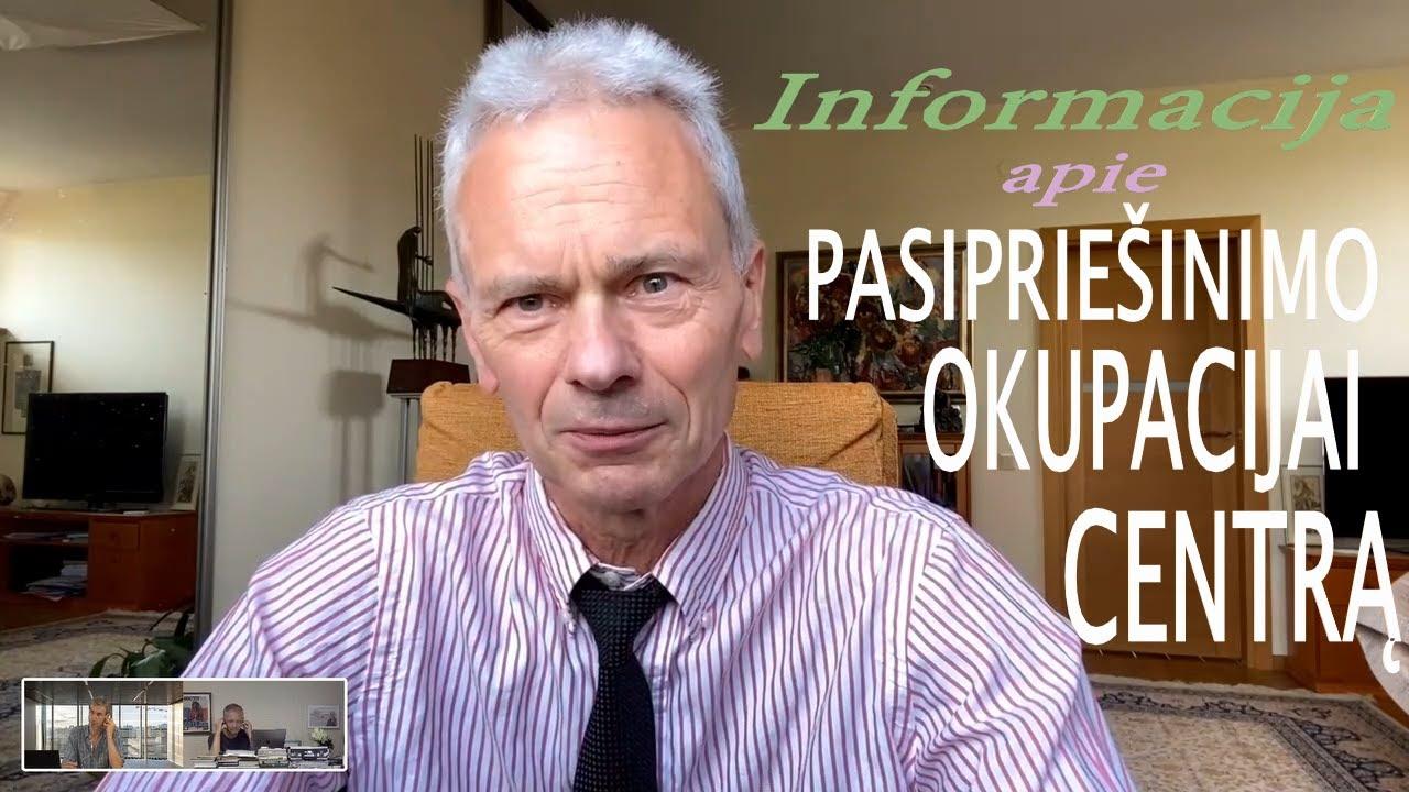2021-07-12 Prof. Eduardo Vaitkaus informacija apie įkurtą PASIPRIEŠINIMO OKUPACIJAI CENTRĄ