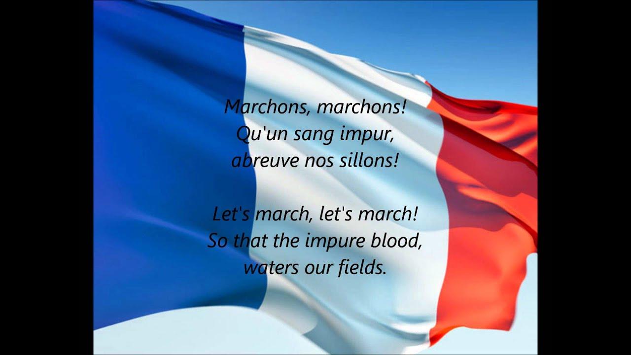 "French National Anthem - ""La Marseillaise"" (FR/EN)"