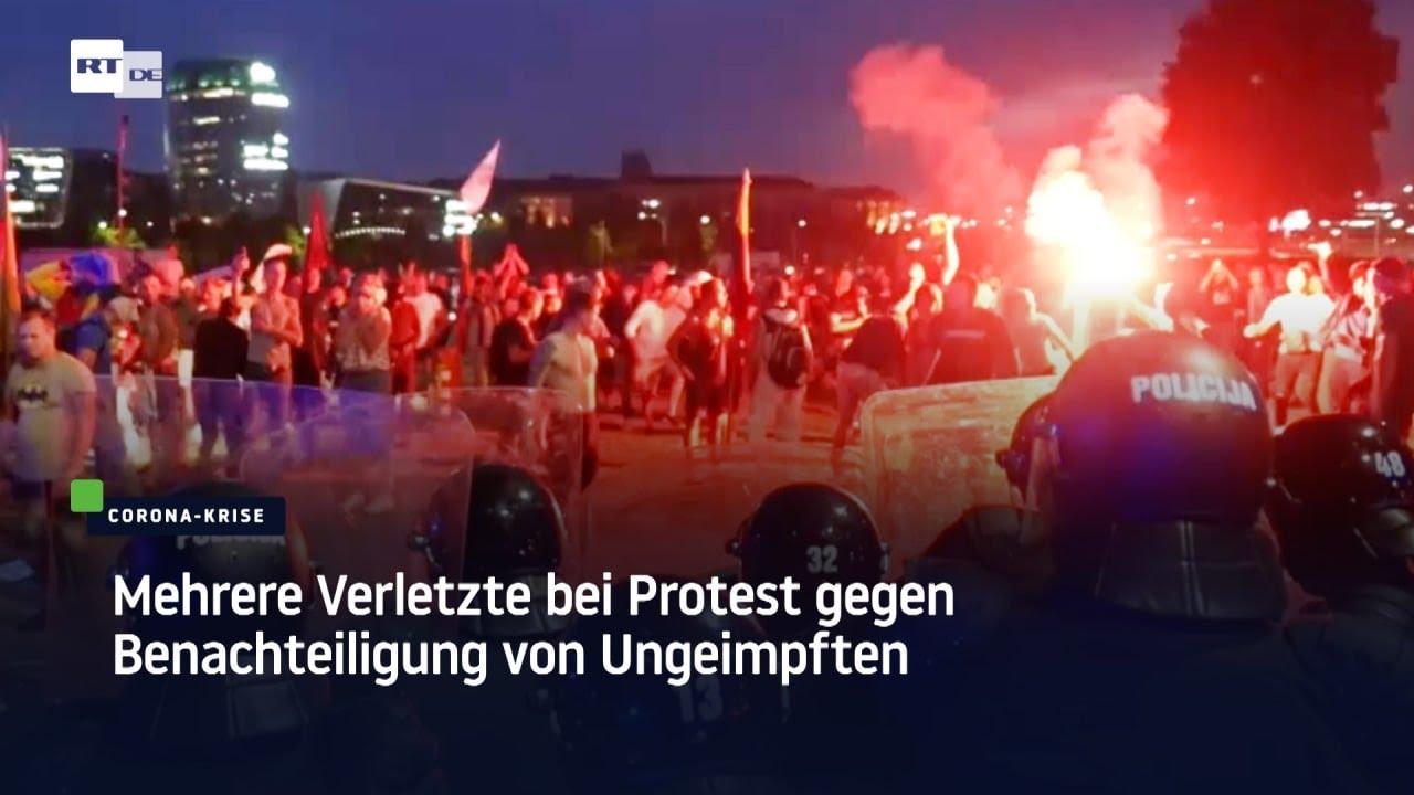 Litauen: Bewaffnete Polizei und mehrere Verletzte bei Protest gegen Corona-Pass