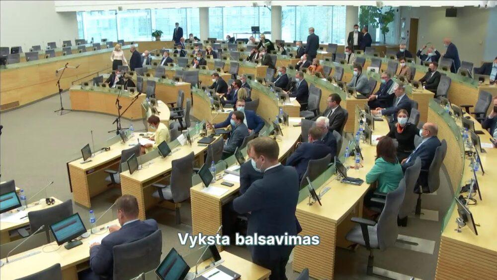 2021-09-30 Seimo vakarinis posėdis Nr. 99